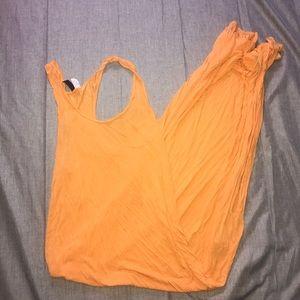 Orange Racerback H&M Maxi Dress with Slit
